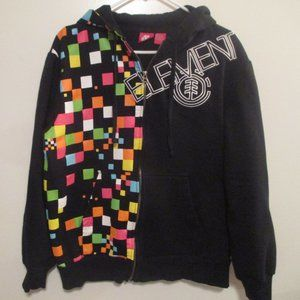Men's ELEMENT Multicoloured hoodie Zip Up - S